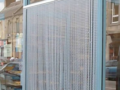 Durable doorway fly screen is easy to get through for people.