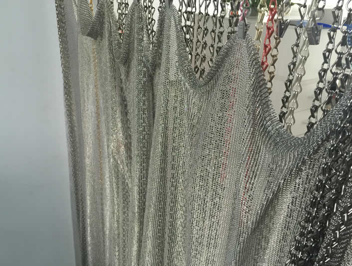 Chainmail Fringe Curtain For A Visually Solid But Soft Curtain