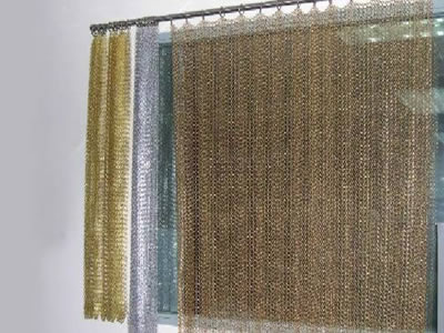 Chainmail Curtain By Rings For Easy Move